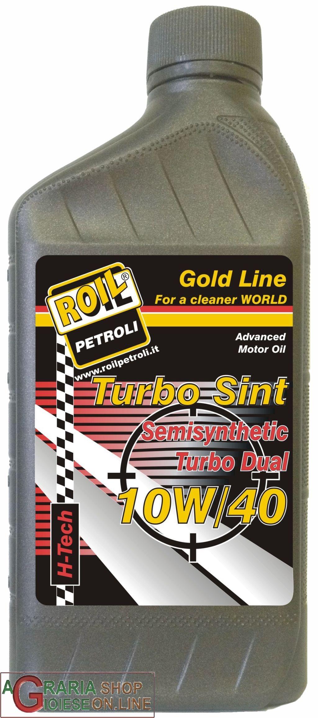 OLIO LUBRIFICANTE ROIL TURBO SINT10W40 LT.1 http://www.decariashop.it/oli-lubrificanti/12346-olio-lubrificante-roil-turbo-sint10w40-lt1.html