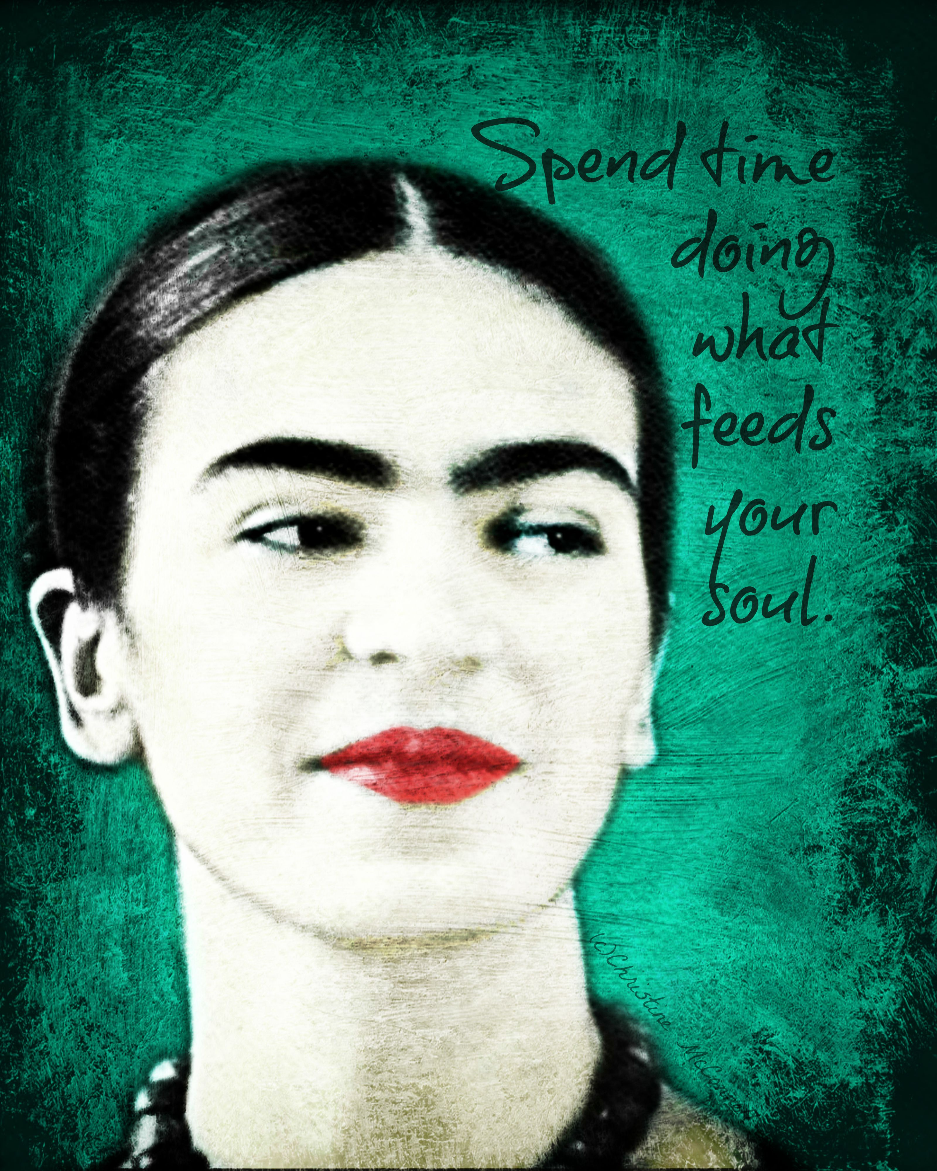 Quote Des Artistes Peintres frida kahlo painting effect inspirational print available at