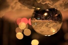 Image result for snow street night