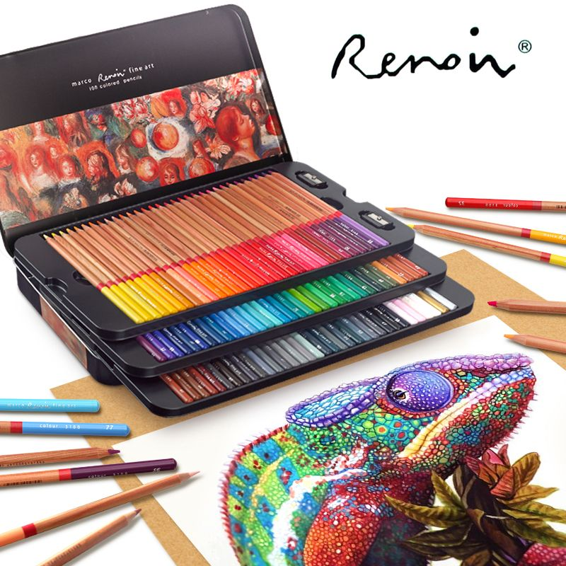 Marco Renoir 24 36 48 72 100 Colors Pencil Set Lapices De Colores Profesionales Crayons Colouring Drawing Penc Colores Profesionales Lapices De Colores Lapices