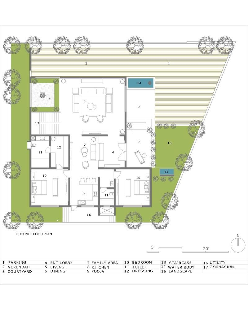 Gallery Of Hambarde Residence 4th Axis Design Studio 19 House Plans With Photos Ground Floor Plan Residential Design