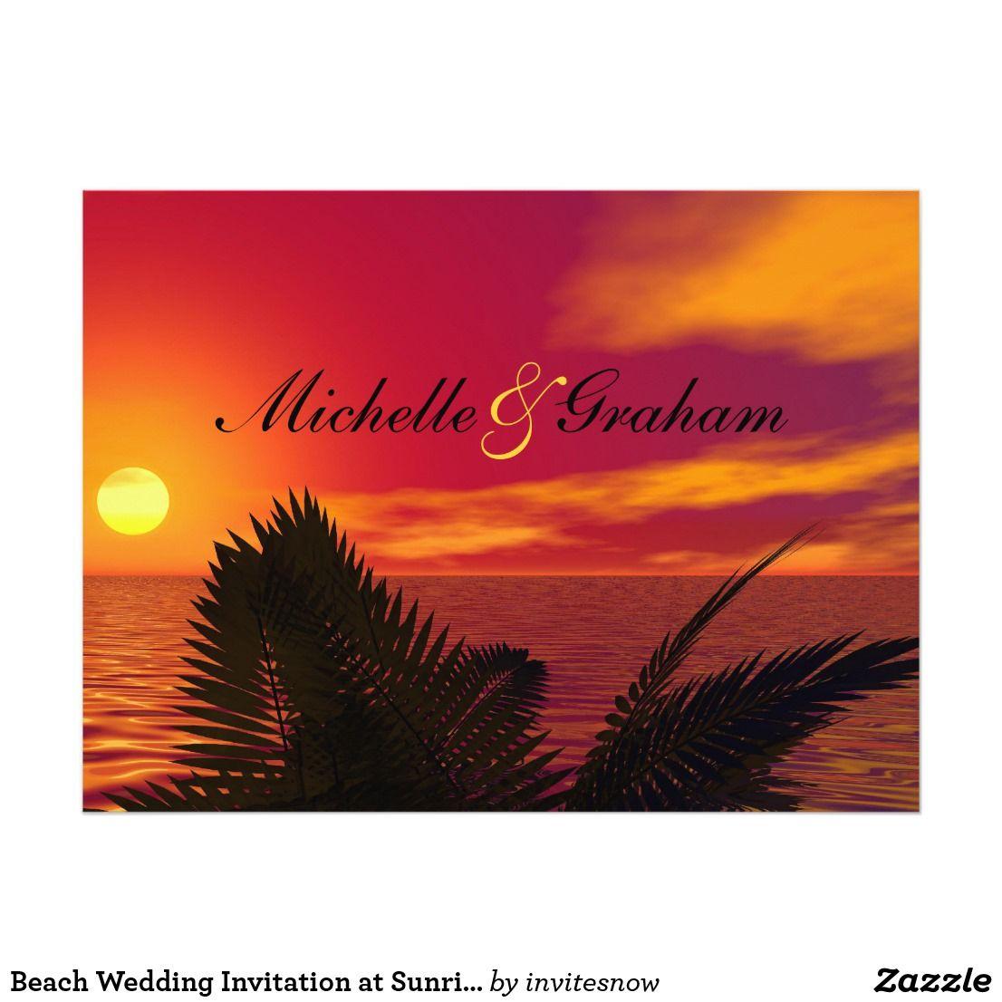 Beach Wedding Invitation at Sunrise | Vintage Wedding Invitations ...