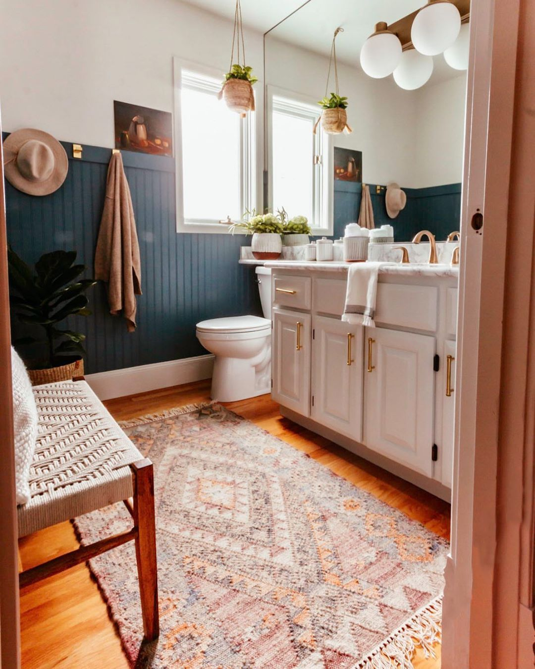Mid Century Modern Bathroom In 2020 Grey Paint Colors Blue Gray Paint Colors Blue Gray Paint