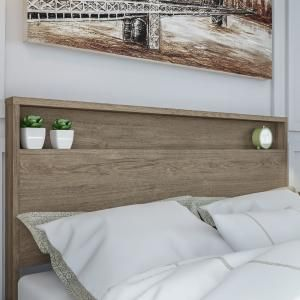 South Shore Holland Weathered Oak Full and Queen Size Headboard 9075261 - The Home Depot