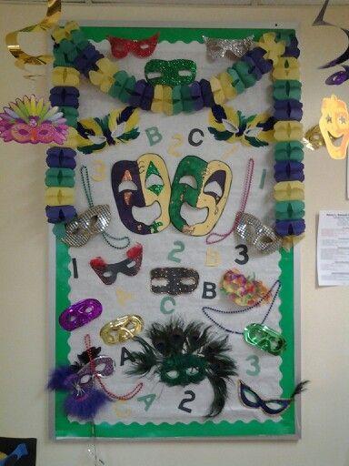 Classroom Decoration Ideas Christmas ~ Abc mardi gras bulletin board locs pinterest