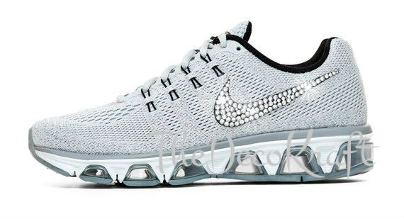 Custom Bling Womens Nike Air Max Tailwind 8 Pure Platinum 1ed714c526