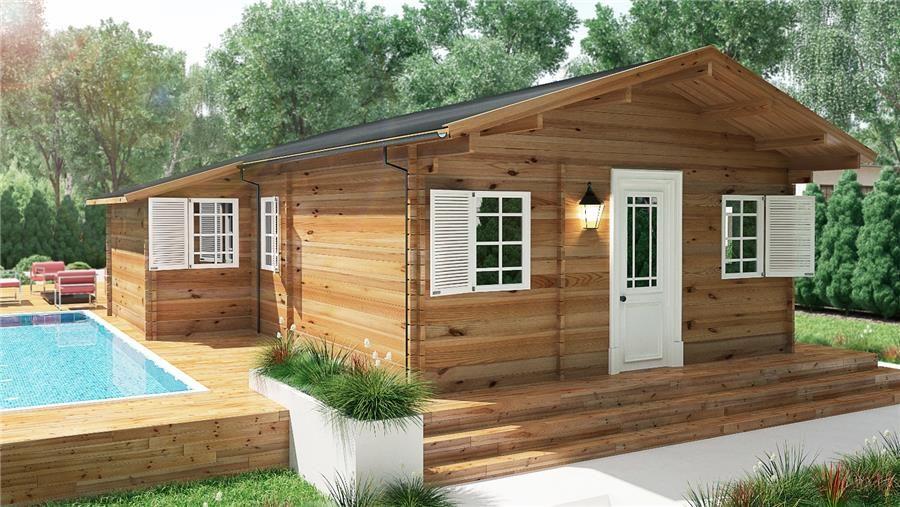Tienda online donacasa lyra 660x750 casas prefabricadas pinterest tiendas casas - Refugios de madera prefabricados ...