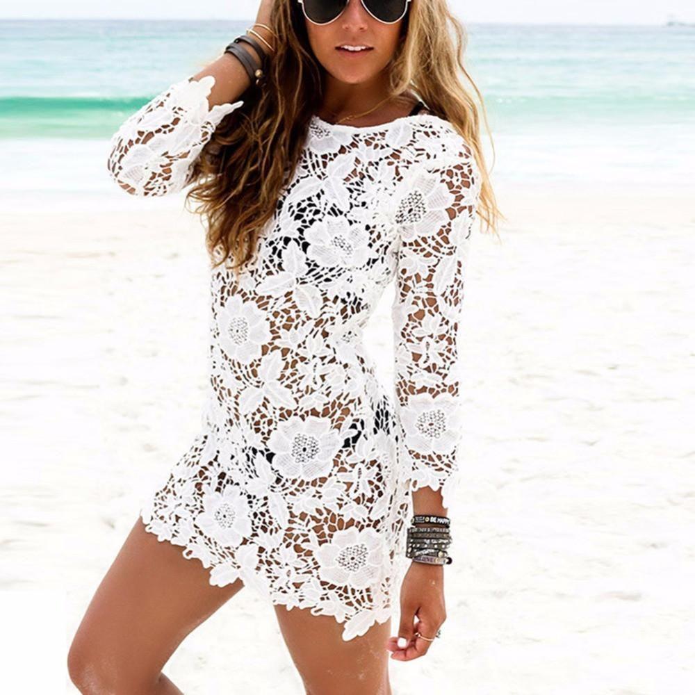 Flower Lace Beach Dress Lace Beach Dress Crochet Beach Dress Crochet Swimsuits