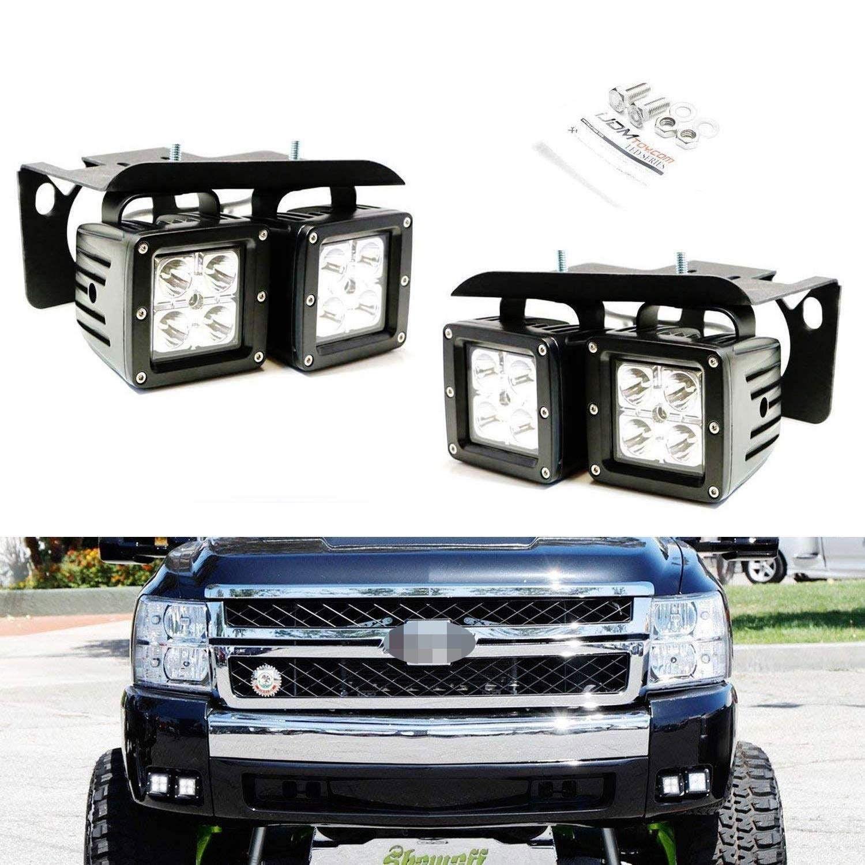 Ijdmtoy Led Pod Light Fog Lamp Kit For 2007 14 Chevy Silverado 1500 2500 3500 Hd Includes 4 2 In 2020 Chevy Silverado Chevy Silverado 1500 Silverado 1500