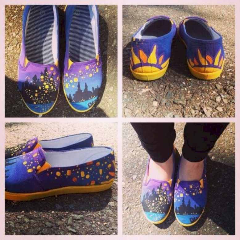 Drawing Canvas Shoes Ideas That You Can Do At Home 42 Disney Painted Shoes Canvas Shoes Disney Shoes