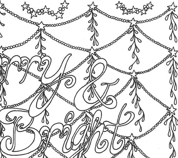Christmas Coloring Page For Adult By MarblesAndJam