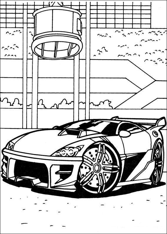 Tegninger til Farvelægning Hot Wheels 9