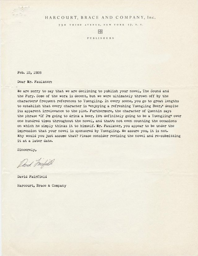 Rejection Letters Publishers Sent To Famous Authors  Authors