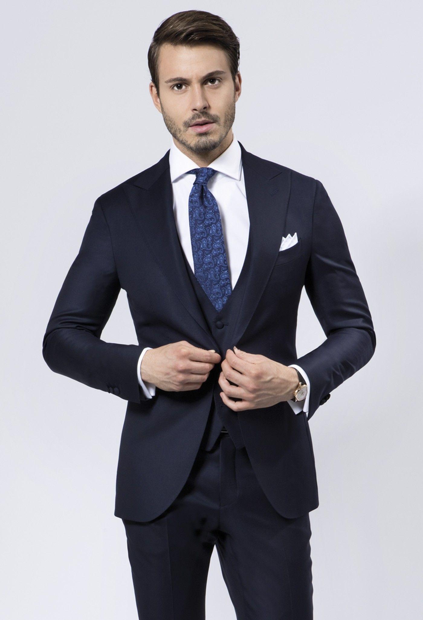 abito da uomo blu scuro - Google Search  9057ec40f56