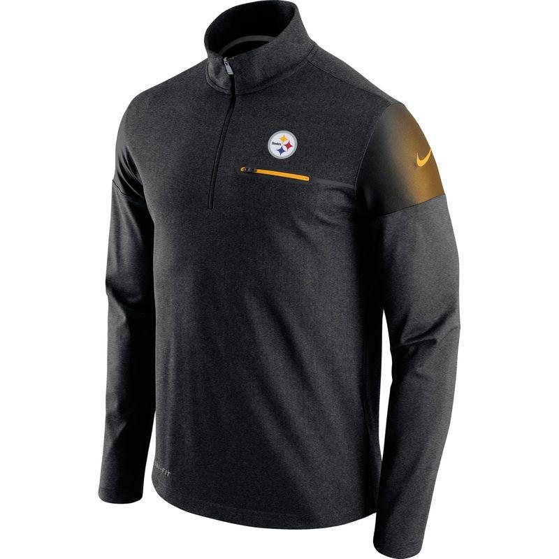 Pittsburgh Steelers Nike Elite Coach Half-Zip Performance Jacket - Black c807a7b58