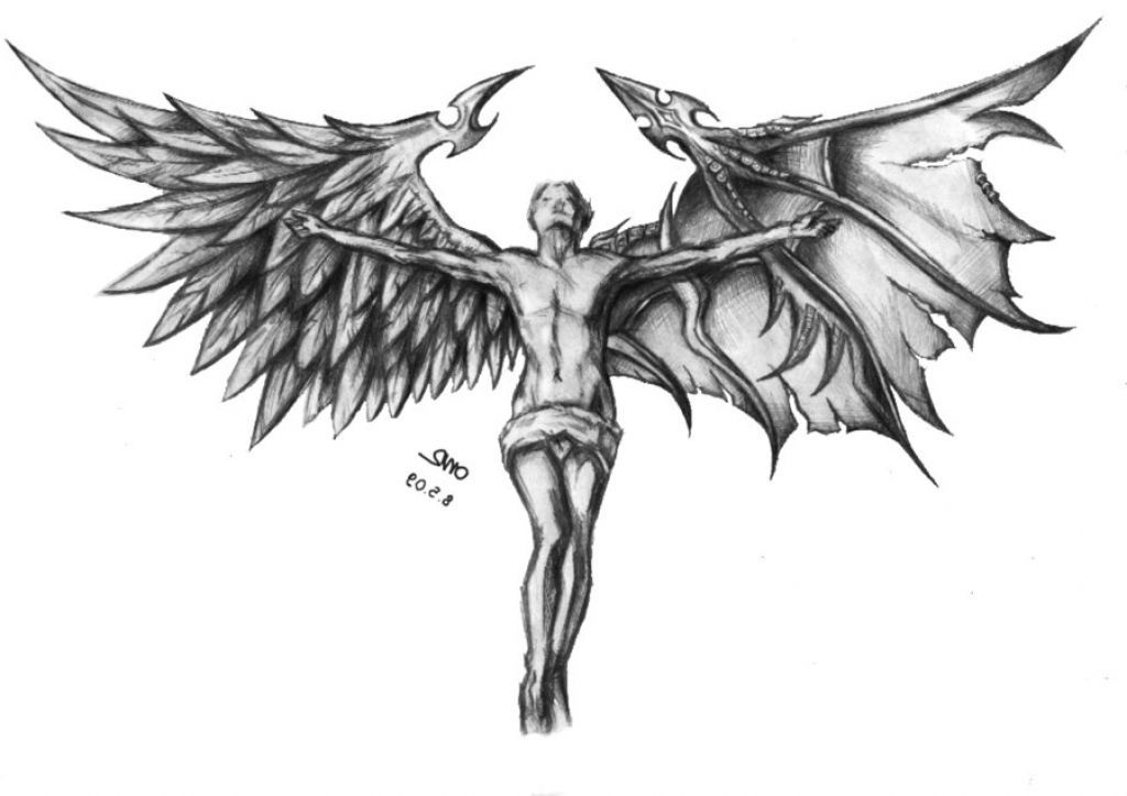 Devil Face Line Drawing : Devil wing tattoo google zoeken skull wings