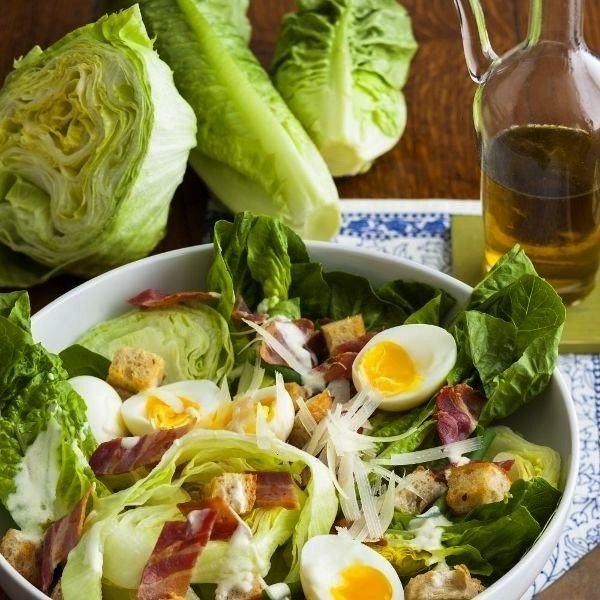 salad with bacon and eggs - from all over the world - ... Mixed salad with bacon and eggs - from al