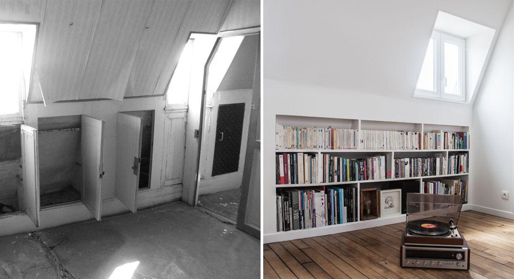 Avant / Après : Fusionner deux chambres de service pour créer un ...