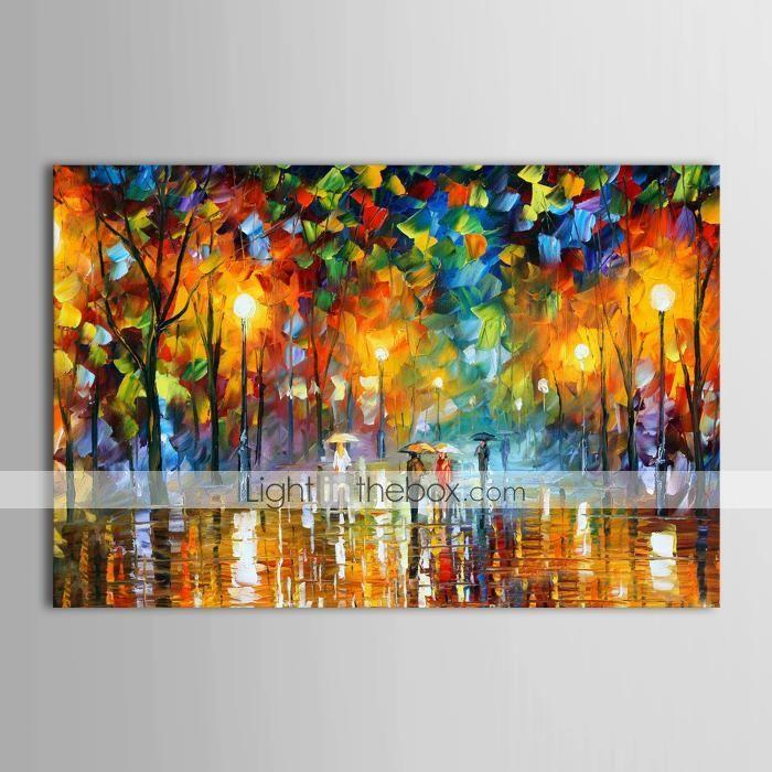 55 19 oliemaleri maler handlavet regn gade landskab moderne strakt laerred med ramme maleri ideer kunstmalerier kunst aquarelle malerei bunt