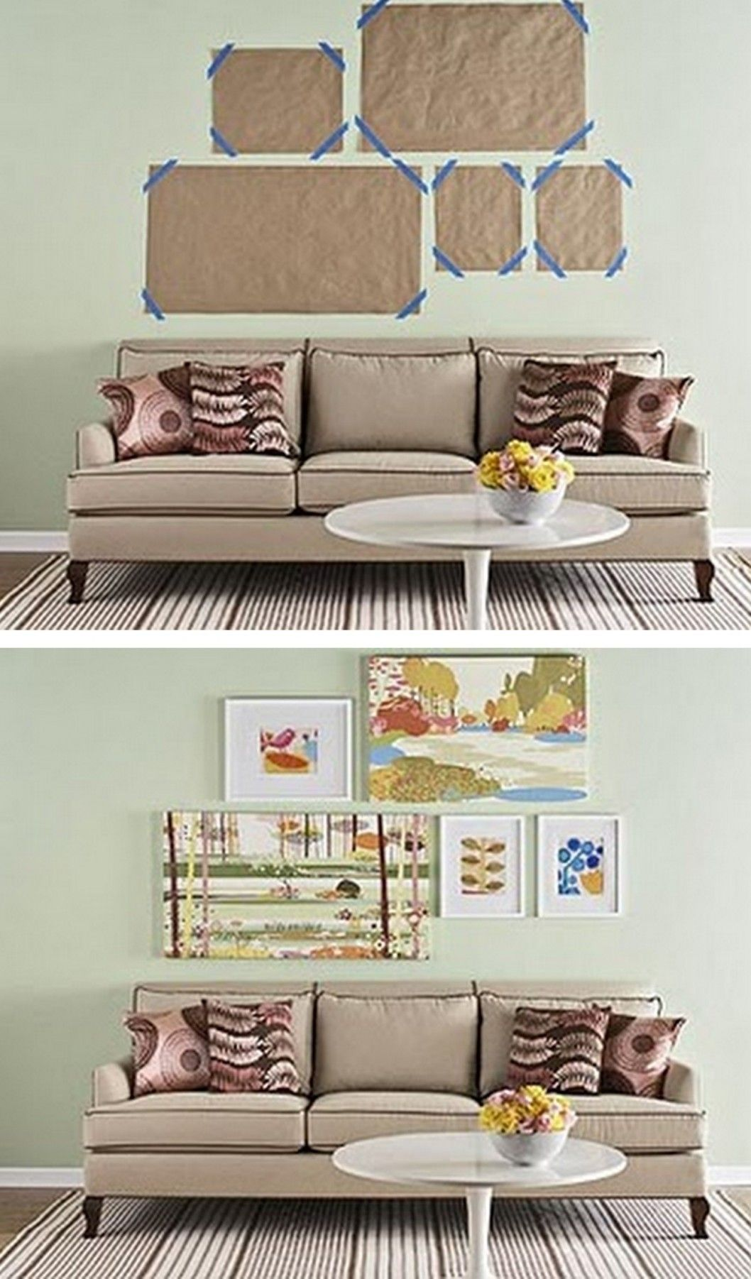 Ideas For Hanging Pictures On Wall Without Frames besf of ideas, photos on wall ideas frames ways to without ways to