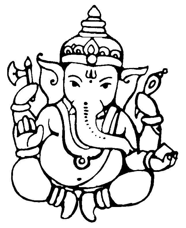 Pin By Luz E On Print Ganesha Drawing Ganesha Sketch Ganesh Photo