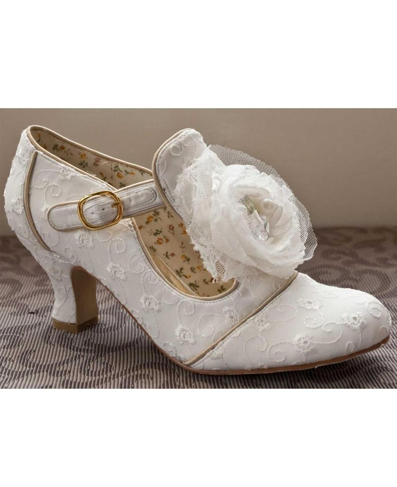 Perfect Bridal Shoes Dorothy Ivory Low Heel