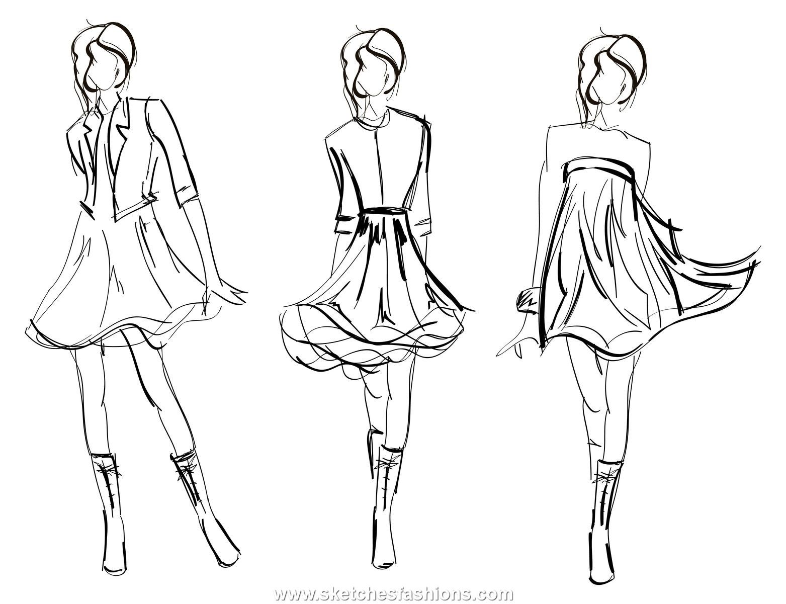 1000+ images about fashion sketches on Pinterest