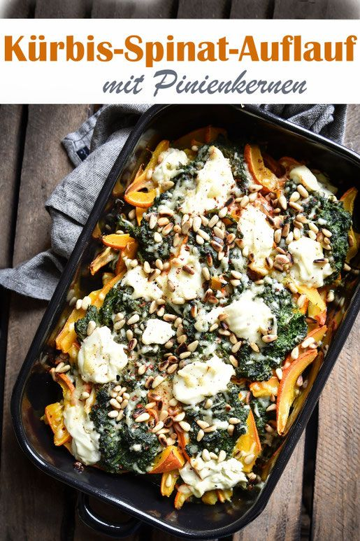 Photo of Pumpkin and spinach bake.