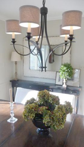 I Like The Long Narrow Hall Table In Background Its Hard To Find Something Chandelier With ShadesDrum ChandelierDining