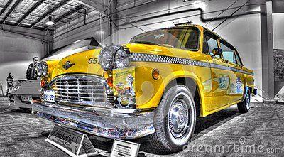 Vintage Yellow Taxi Cab Yellow Taxi Cab Taxi Cab Classic American