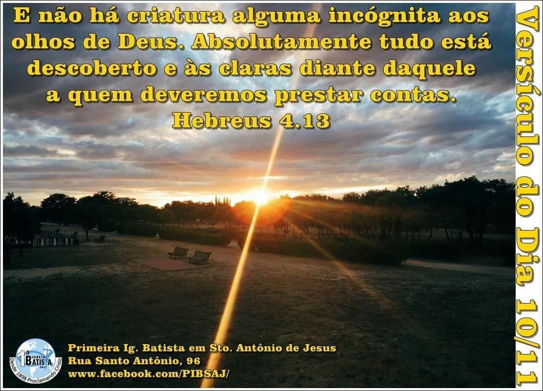 Versículo do Dia 10/11