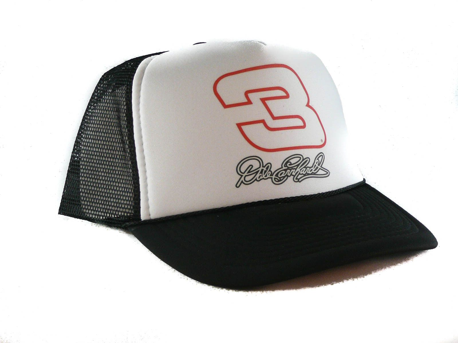 a989f9dd3de Vintage Dale Earnhardt  3 Trucker Hat Nascar Hat Mesh Hat Snapback Hat Black