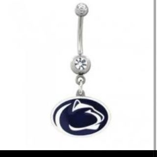 penn state belly button ring