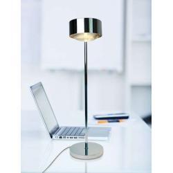 Top Light Puk Maxx Eye Table Halogen Tischleuchte (37cm) weiß-chrom Linse klar 37cm Standard-Fassung