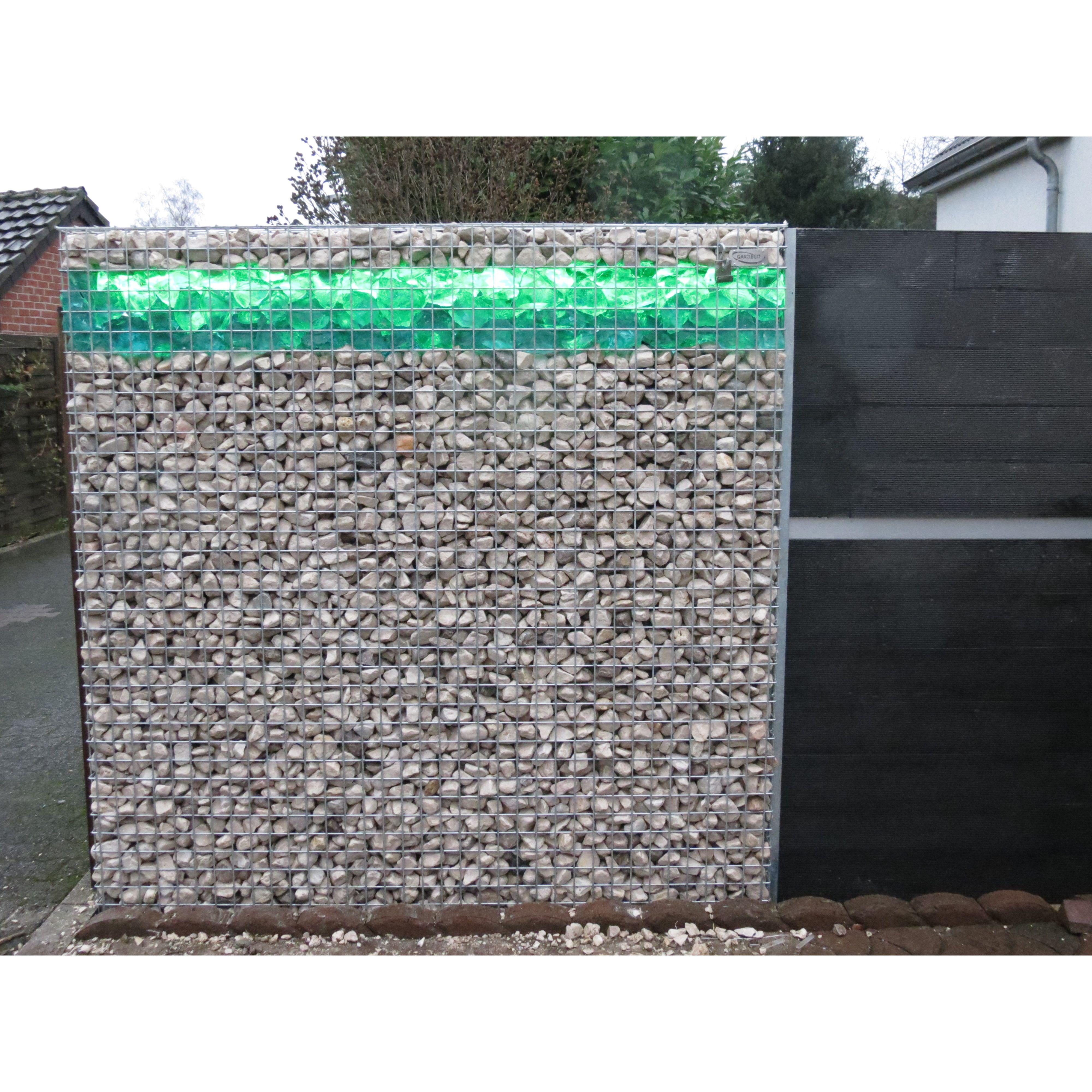 Wpc Gartenzaun Set 200cm Lang Fence Design Gabion Wall Garden Fence