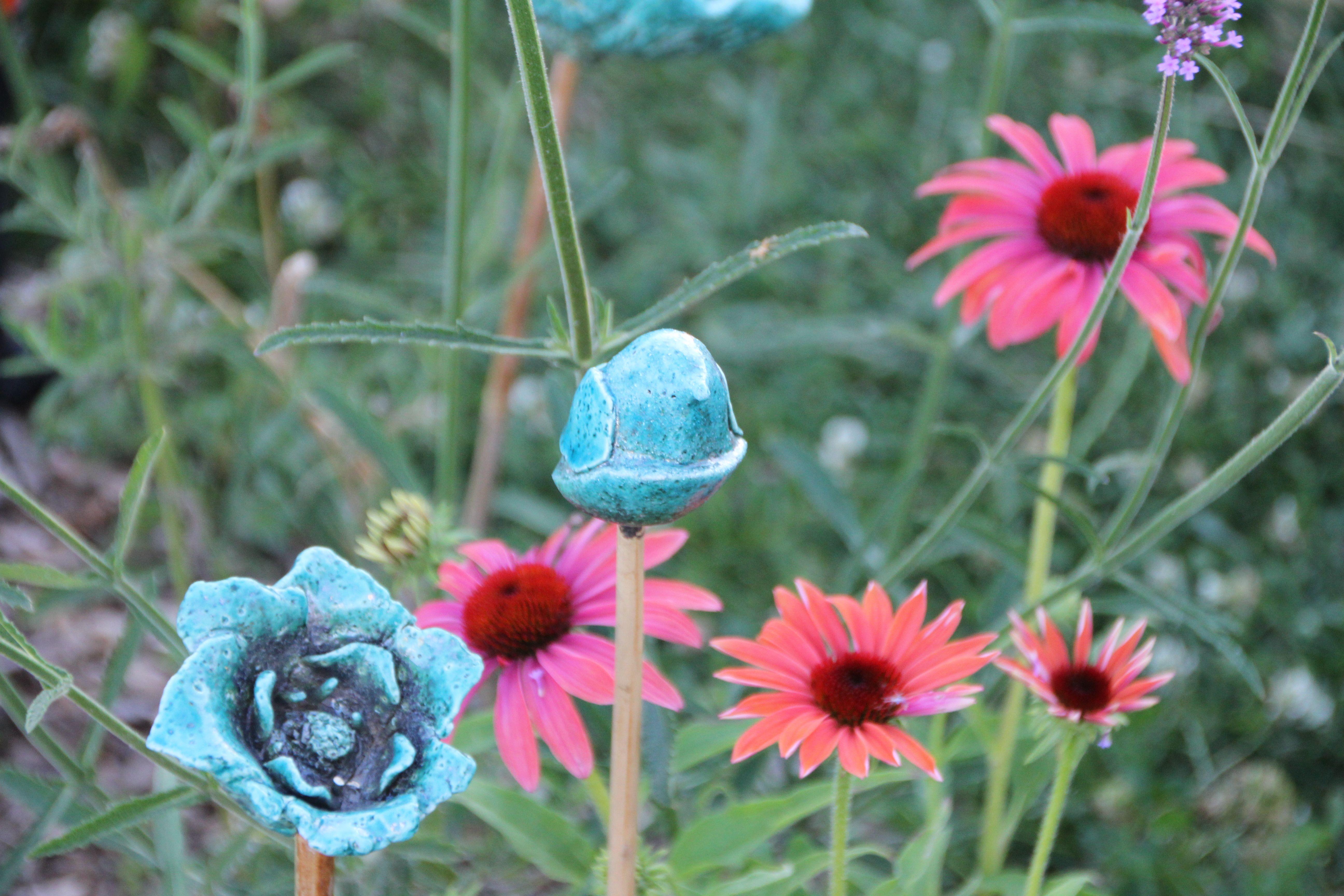 Jardin fleuri Poterie céramiqueTerre Egyptienne
