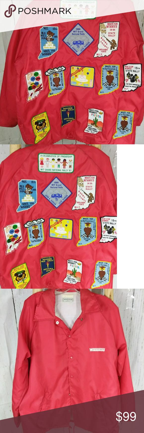 Vintage s winnebago rv jacket hipster patches pinterest listings