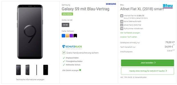 Samsung Galaxy S9 Günstige Tarife