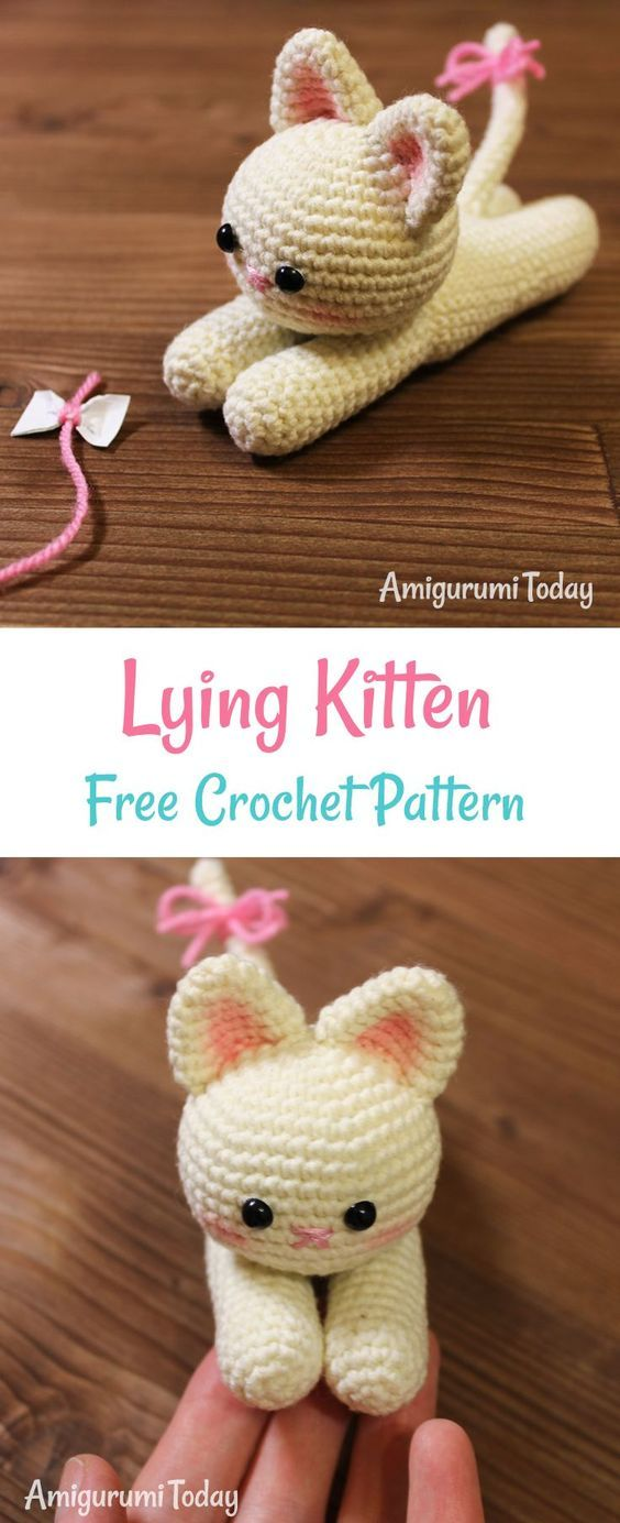 Amigurumi Cat Crochet Pattern Easy Video Tutorial Crochet Croch