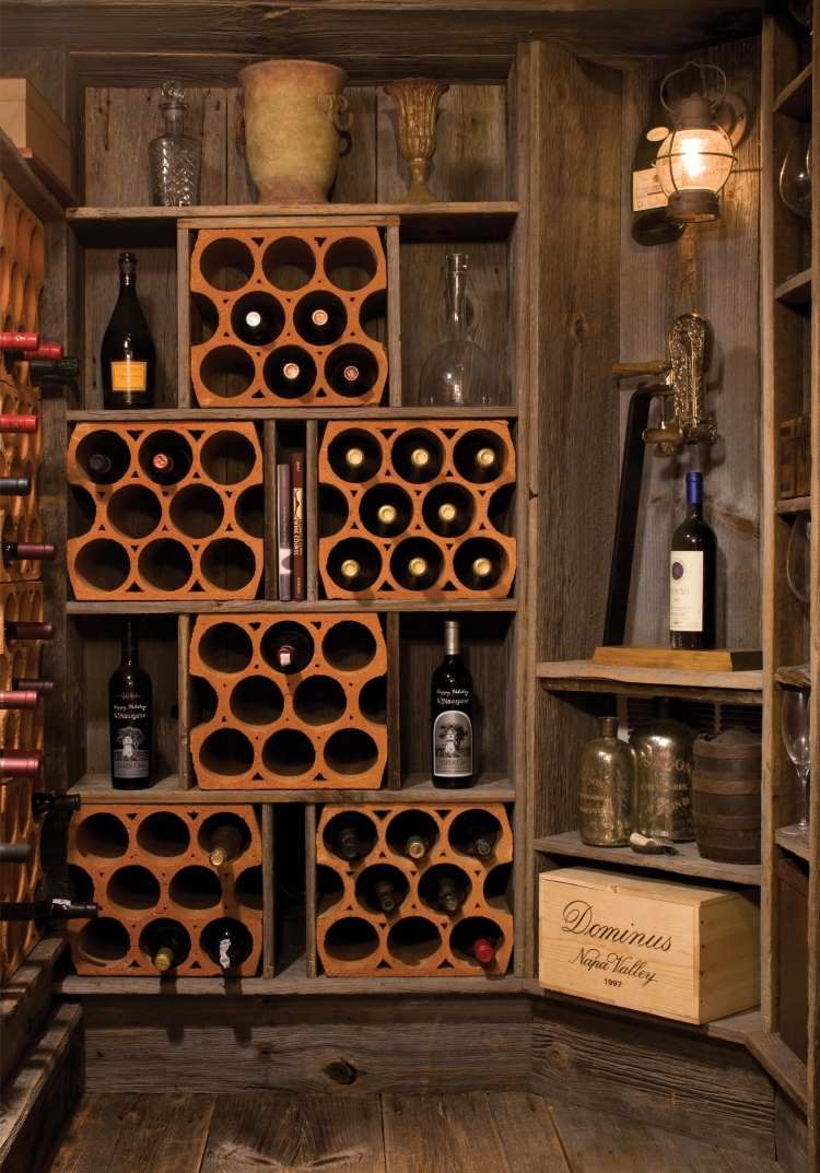 propos du vin et la cave vin maison 18 id es l gantes vin support et en bois. Black Bedroom Furniture Sets. Home Design Ideas
