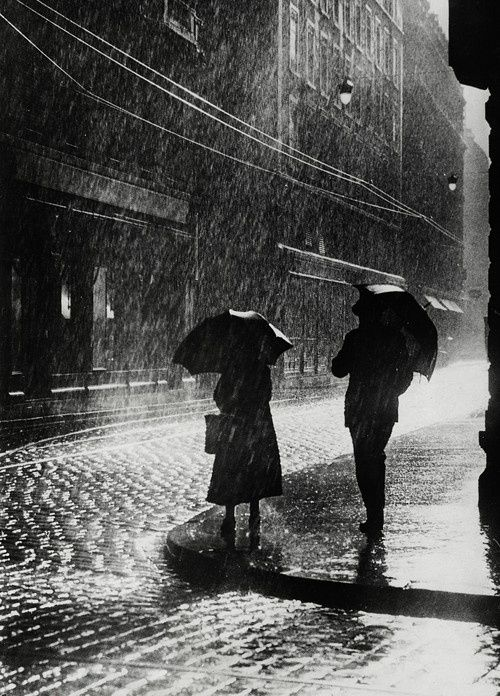 Couple Standing In The Rain In Berlin, 1936