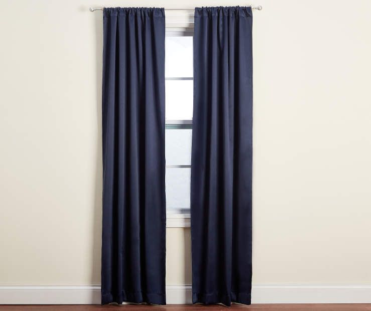 Aprima Aprima Dane Blackout Curtain Panel Pairs Big Lots Blue