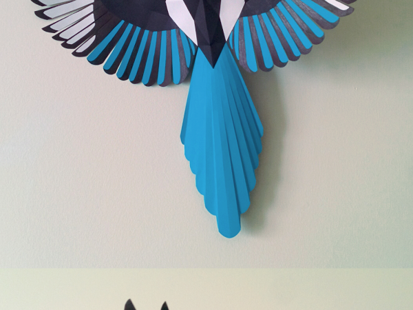 Magpie Papercraft Google Drive Bird paper craft