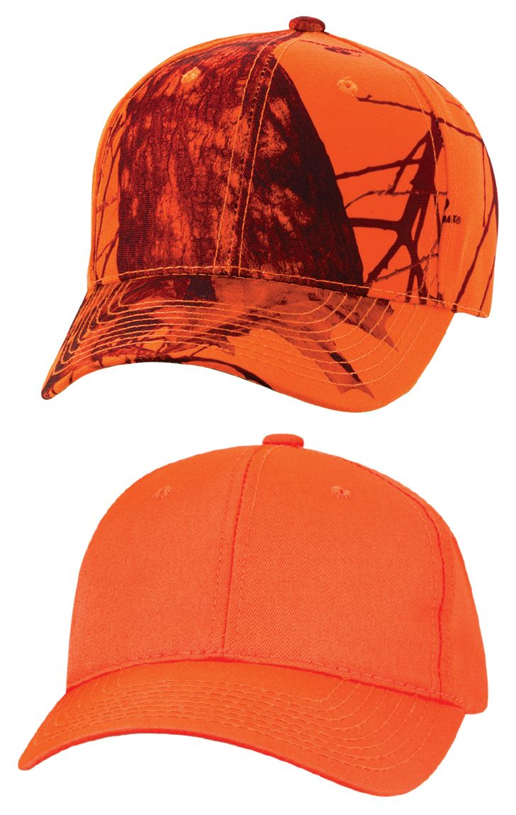920e64d77 Barbed wire embroidery shows you're dangerous. Camo shows you're enigmatic.  And blaze orange? You're into safety. No matter your mood, this h…