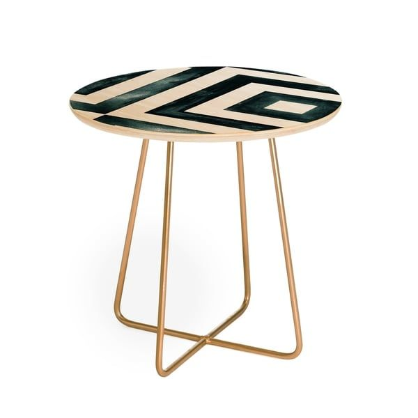 Shop Little Arrow Design Co Watercolor Diamonds Round Side Table