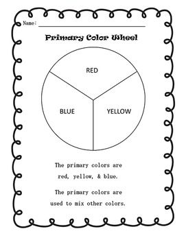 Primary Color Wheel Worksheets In English And Spanish Color Wheel Worksheet Primary Color Wheel Color Wheel