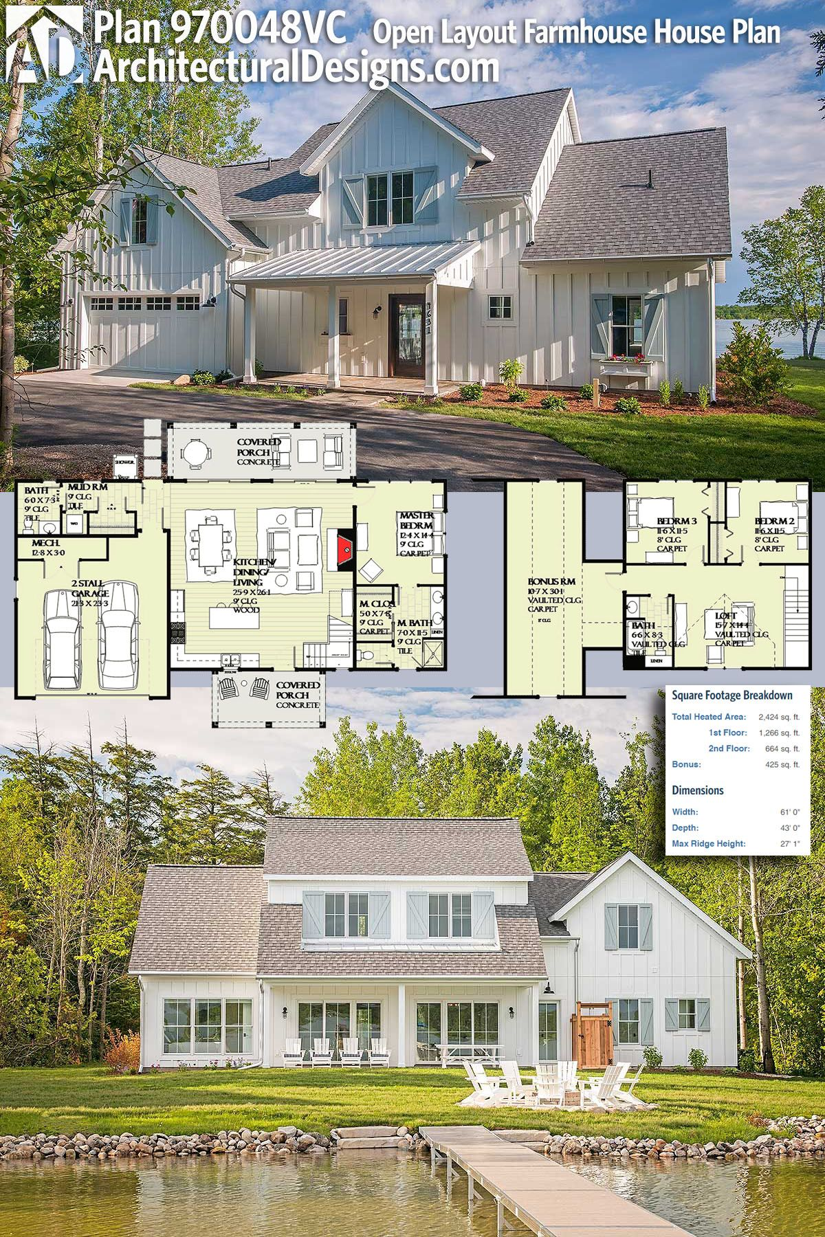 Plan 970048VC Open Layout Farmhouse House