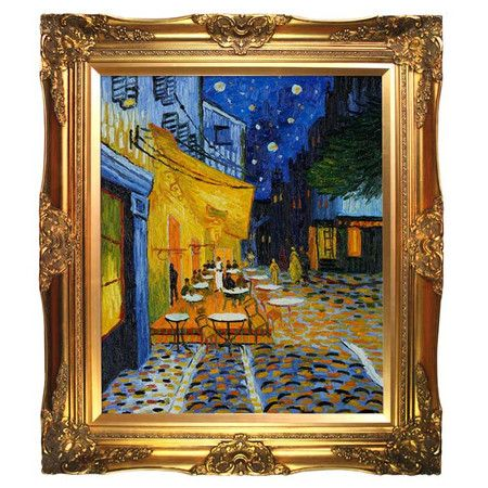 32debae5187 Create an artful focal point in your living room or den with this  eye-catching canvas print of Cafe Terrace at Night by Vincent van Gogh.