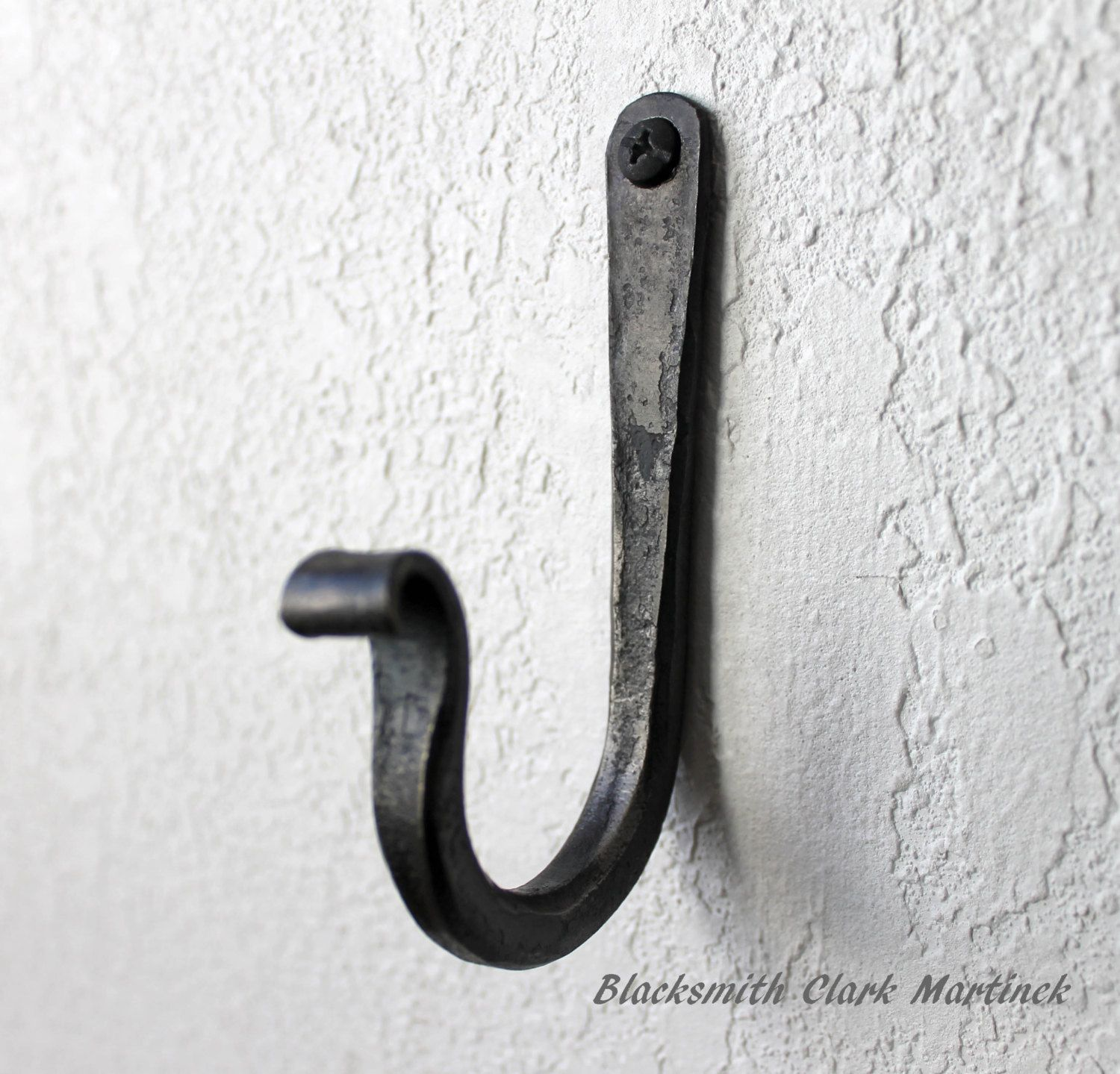 Single Wall Hook Black Metal Hook Blacksmith Hook Wall Hook For