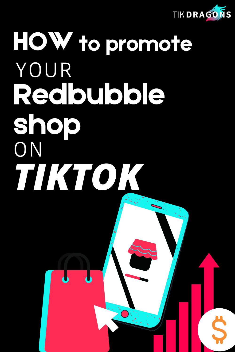 How To Promote Your Redbubble Shop On Tiktok Promotion Shopping Redbubble